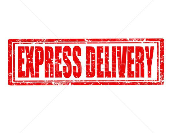 Expressz grunge pecsét szöveg üzlet iroda Stock fotó © carmen2011