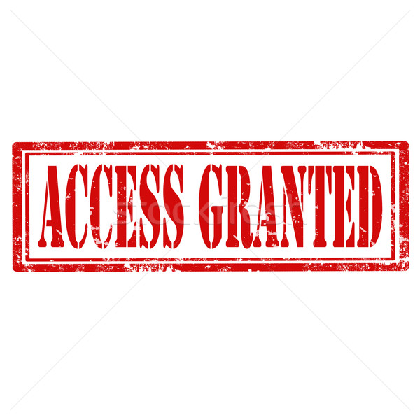 Access Granted-stamp Stock photo © carmen2011