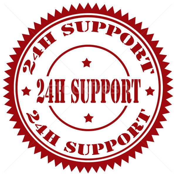 24 H Support-stamp Stock photo © carmen2011