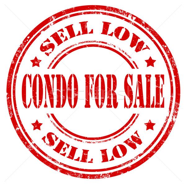 Stock photo: Condo For Sale-stamp