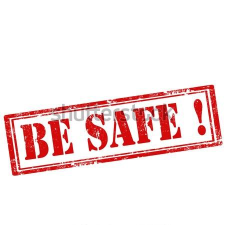 Гранж текста безопасной резиновые икона Сток-фото © carmen2011