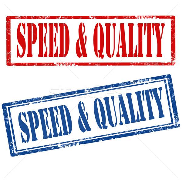 Vitesse qualité grunge caoutchouc timbres Photo stock © carmen2011