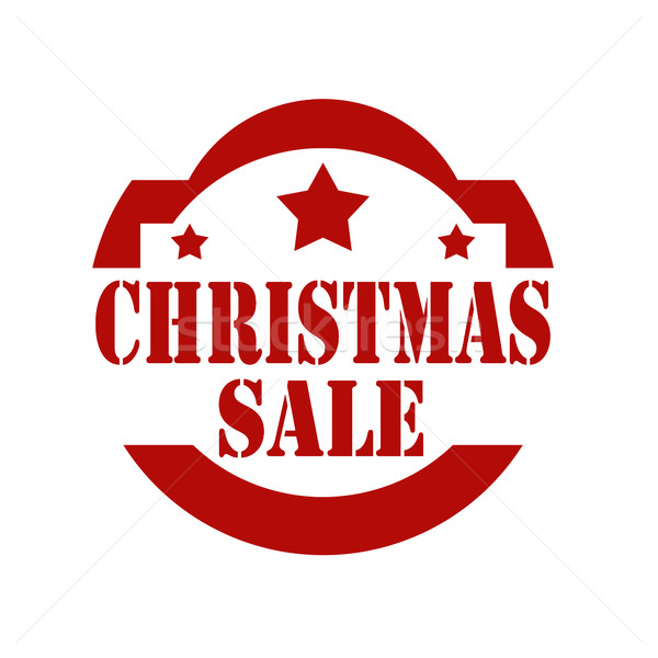 Christmas Sale-stamp Stock photo © carmen2011