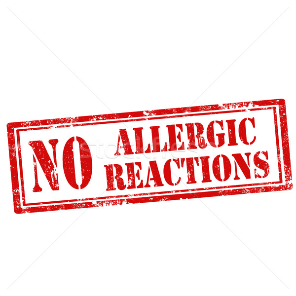 Stock photo: No Allergic Reactions-stamp