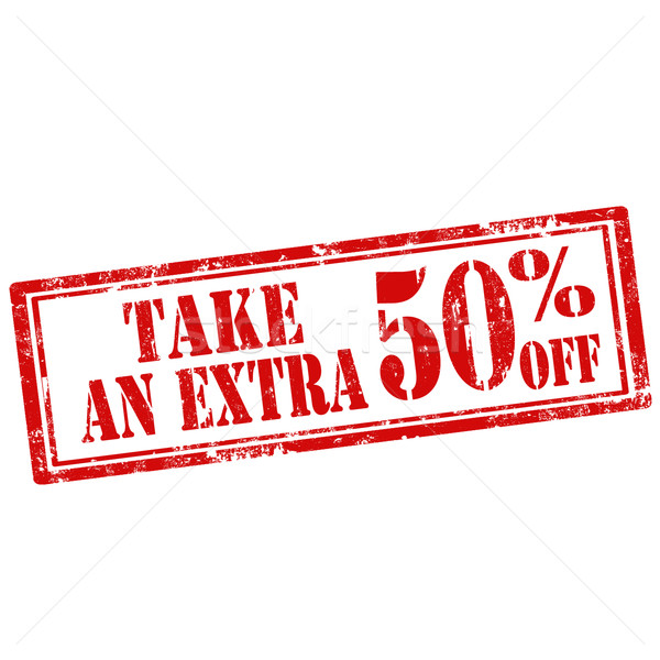 Stock photo: Take An Extra 50% Off-stamp
