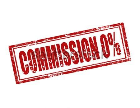 Commission 0% -stamp Stock photo © carmen2011