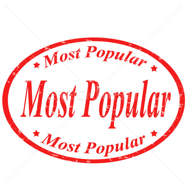 Most Popular-stamp Stock photo © carmen2011