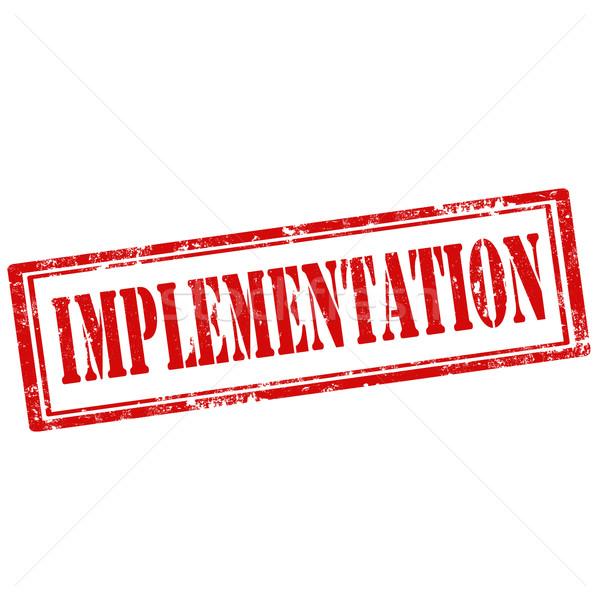 Implementation-stamp Stock photo © carmen2011