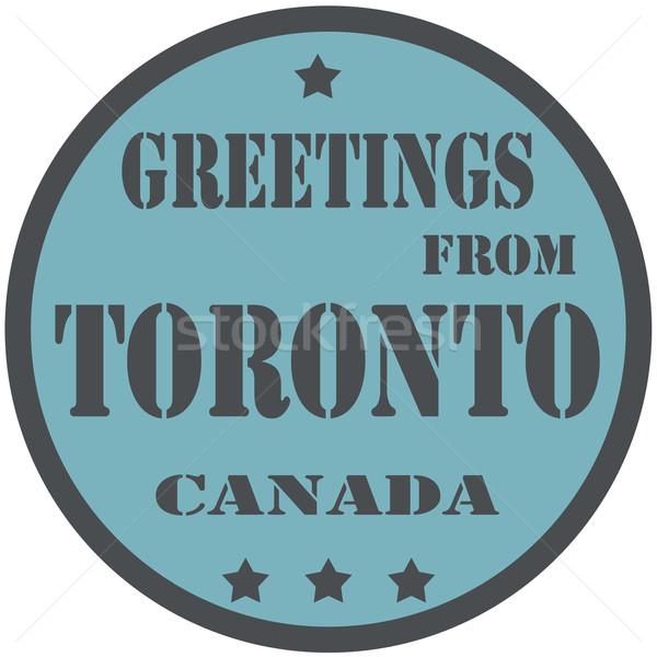 Торонто Label текста знак стране Сток-фото © carmen2011