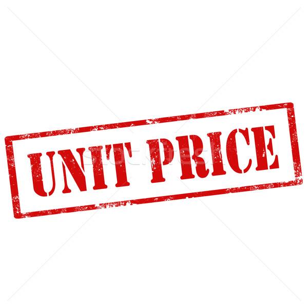 Unidade preço grunge texto vermelho Foto stock © carmen2011
