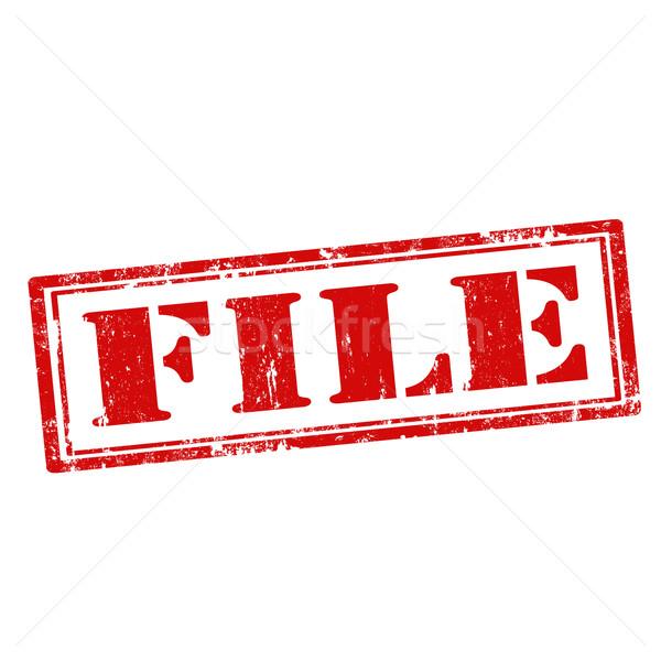 Гранж текста бизнеса папке файла Сток-фото © carmen2011