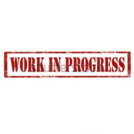 Autentico grunge testo ufficio lavoro Foto d'archivio © carmen2011