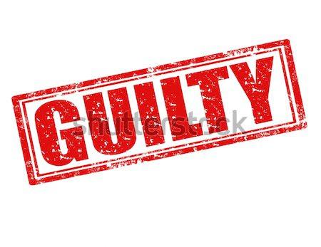 Guilty-stamp Stock photo © carmen2011