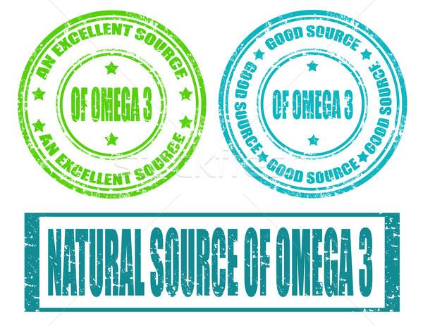 Omega 3-stamp Stock photo © carmen2011