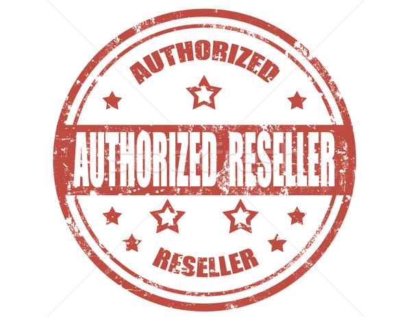 Authorized reseller-stamp Stock photo © carmen2011
