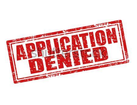 Application denied-stamp Stock photo © carmen2011