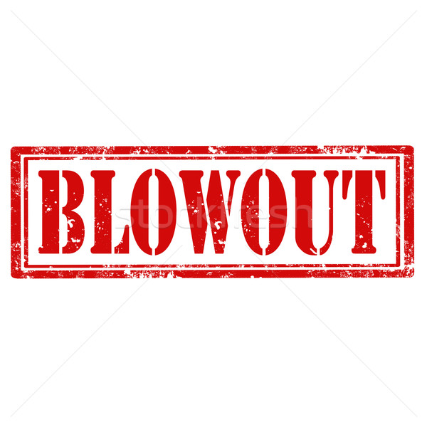 Blowout-stamp Stock photo © carmen2011