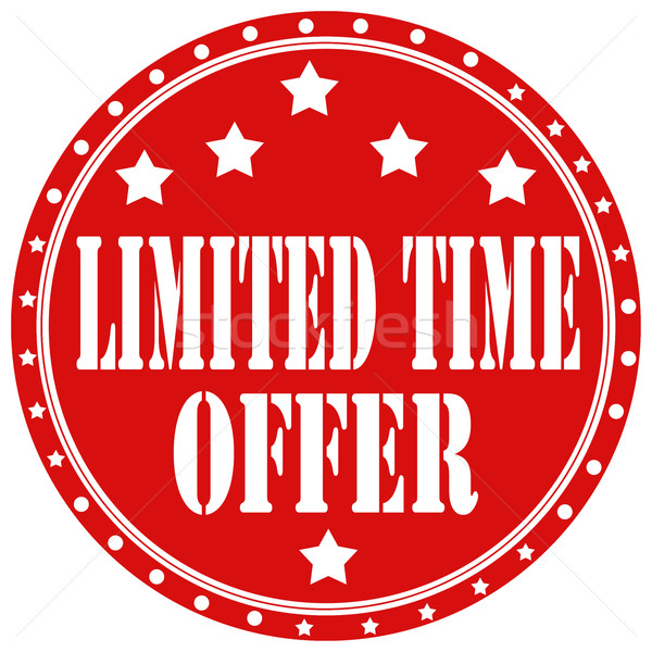 Limited Time Offer-label Stock photo © carmen2011