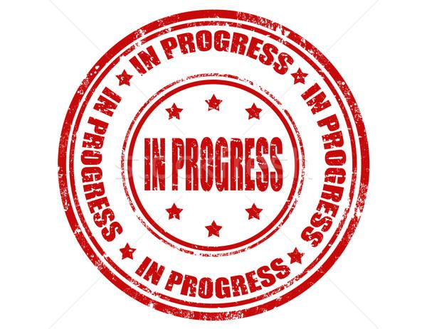 Grunge pecsét szöveg haladás háttér piros Stock fotó © carmen2011