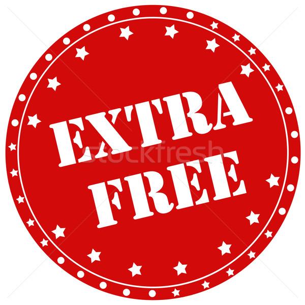 Extra rojo sello texto signo libre Foto stock © carmen2011