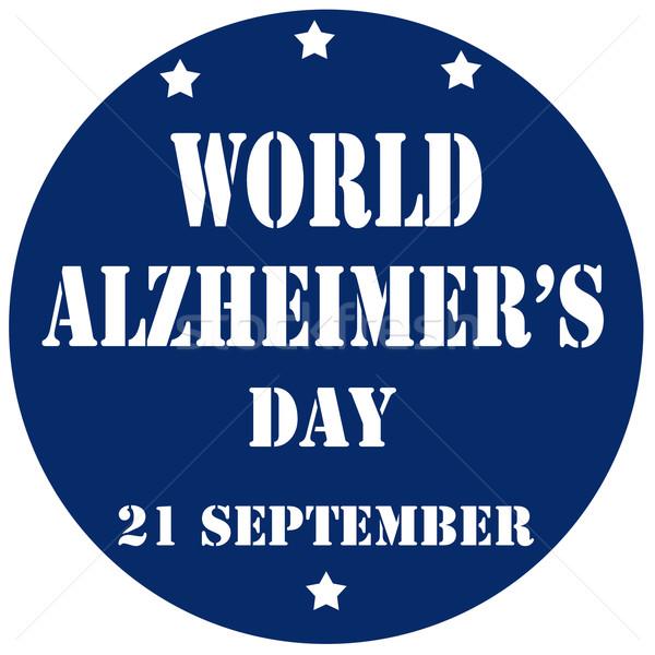 Világ Alzheimer nap kék bélyeg szöveg Stock fotó © carmen2011