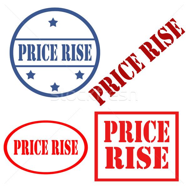 ár szett bélyegek szöveg üzlet bélyeg Stock fotó © carmen2011