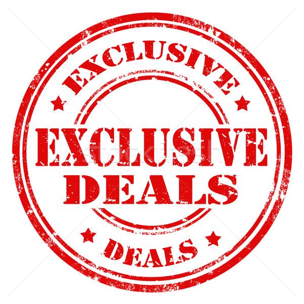 Exclusive Deals-stamp Stock photo © carmen2011