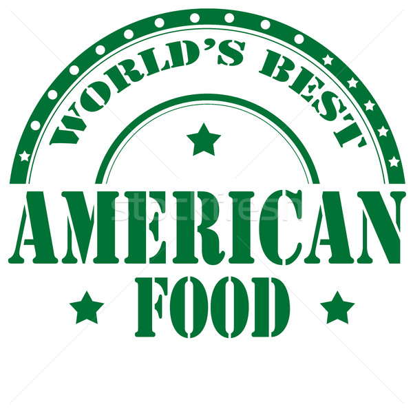 American Food-label Stock photo © carmen2011