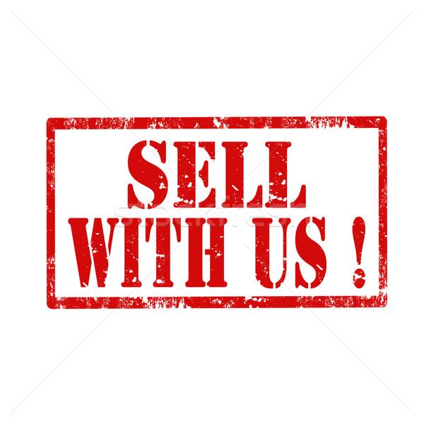 Vender grunge texto negócio vermelho Foto stock © carmen2011