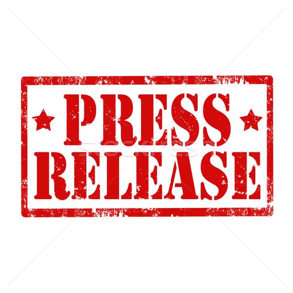 Press Release-stamp Stock photo © carmen2011