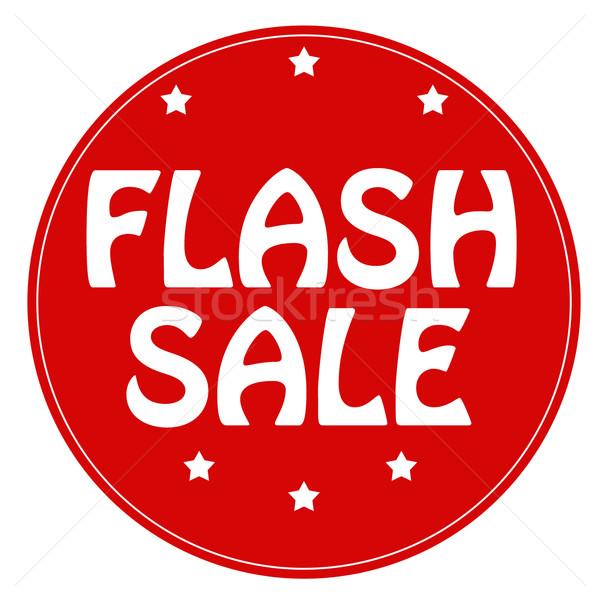 Flash venta rojo sello texto menor Foto stock © carmen2011