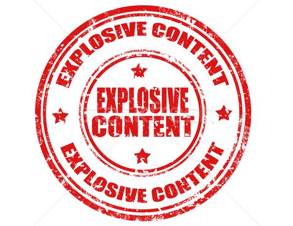 Wybuchowy grunge tekst działalności wybuchu Zdjęcia stock © carmen2011