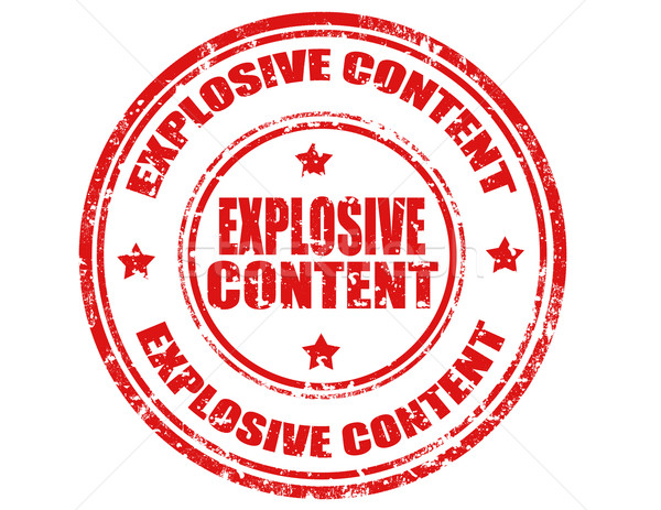 Explosive Content-stamp Stock photo © carmen2011