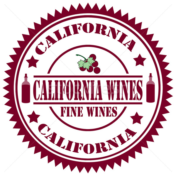 California Wines-stamp Stock photo © carmen2011