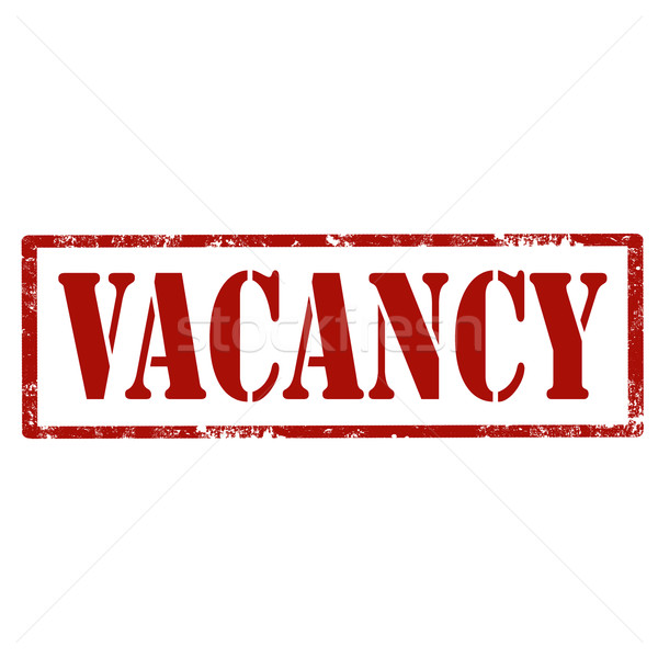 Vacancy-red stamp Stock photo © carmen2011