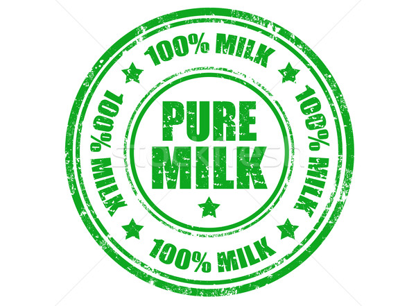 Pure milk stamp Stock photo © carmen2011