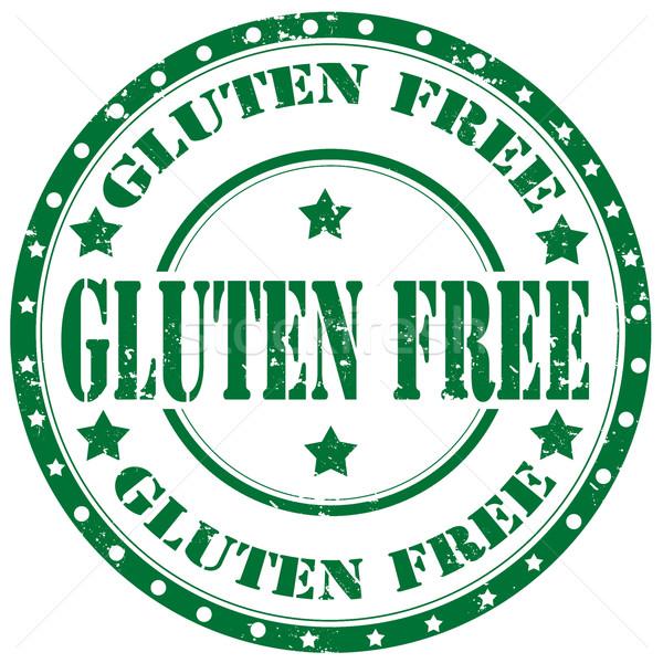 Glutine grunge testo verde libero Foto d'archivio © carmen2011