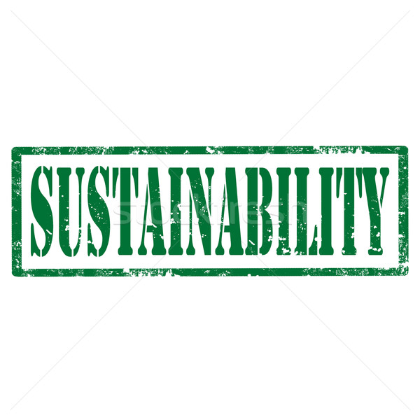 Stock photo: Sustainability-stamp