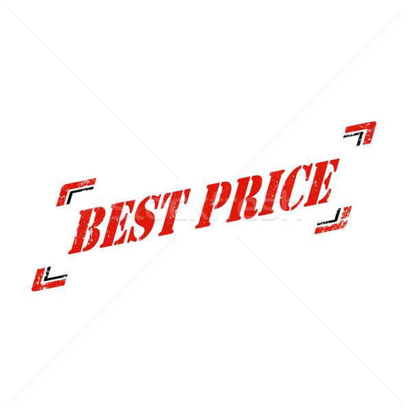 Melhor preço grunge texto o melhor assinar Foto stock © carmen2011