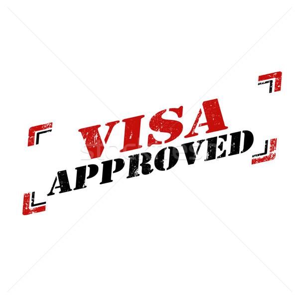 VISA elismert grunge pecsét szöveg bélyeg Stock fotó © carmen2011