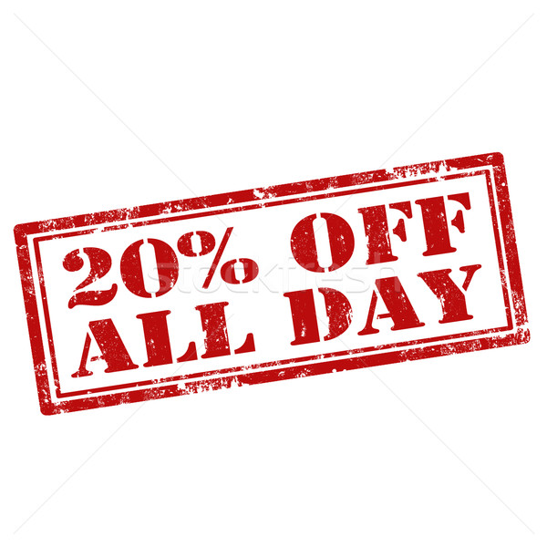 20% Off All Day Stock photo © carmen2011