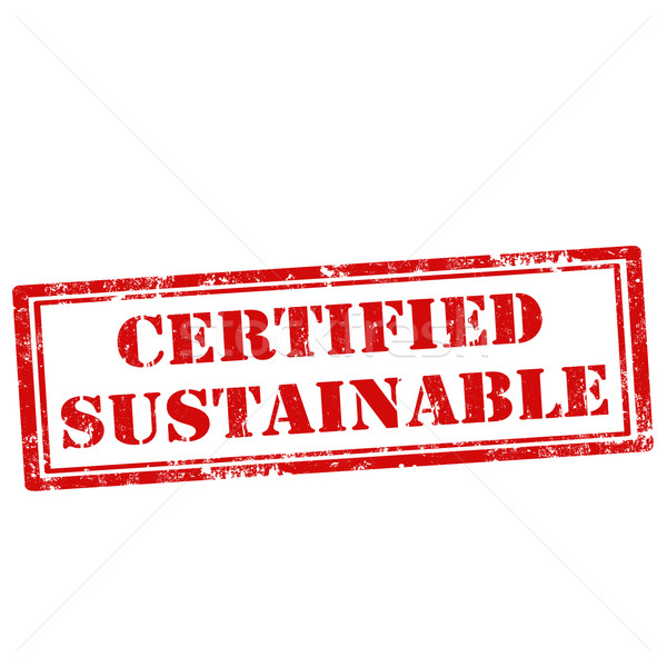 Certified Sustainable-stamp Stock photo © carmen2011