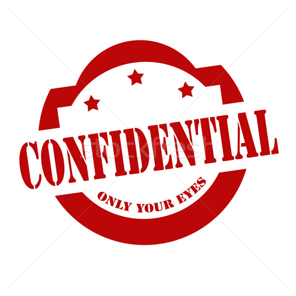 Confidential-red stamp Stock photo © carmen2011
