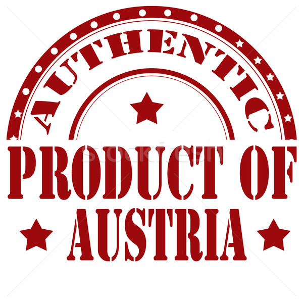 Product Of Austria-stamp Stock photo © carmen2011