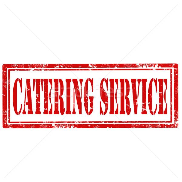 Catering grunge testo ufficio servizio Foto d'archivio © carmen2011