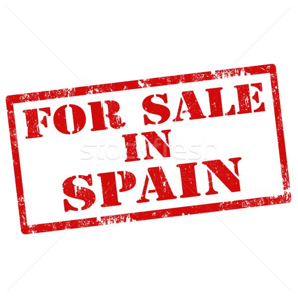 Venta España grunge texto negocios Foto stock © carmen2011