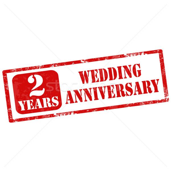 Házassági évforduló grunge pecsét szöveg évek esküvő Stock fotó © carmen2011