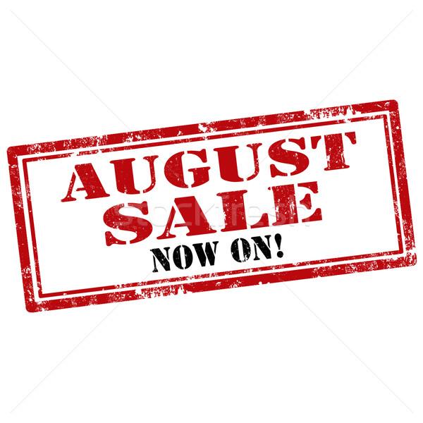 Agosto grunge testo vendita gomma Foto d'archivio © carmen2011