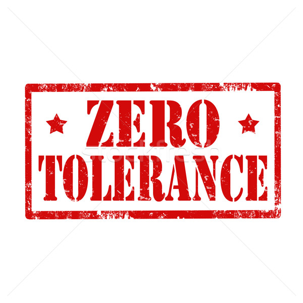Zero Tolerance-stamp Stock photo © carmen2011