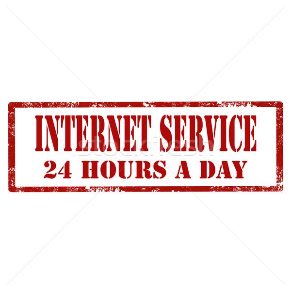 Internet grunge pecsét szöveg üzlet szolgáltatás Stock fotó © carmen2011